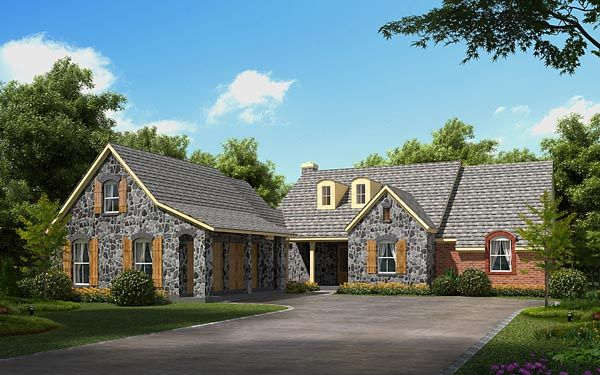 House Plan 56523 European Plan with 2381 Sq Ft 3 Bedrooms 3