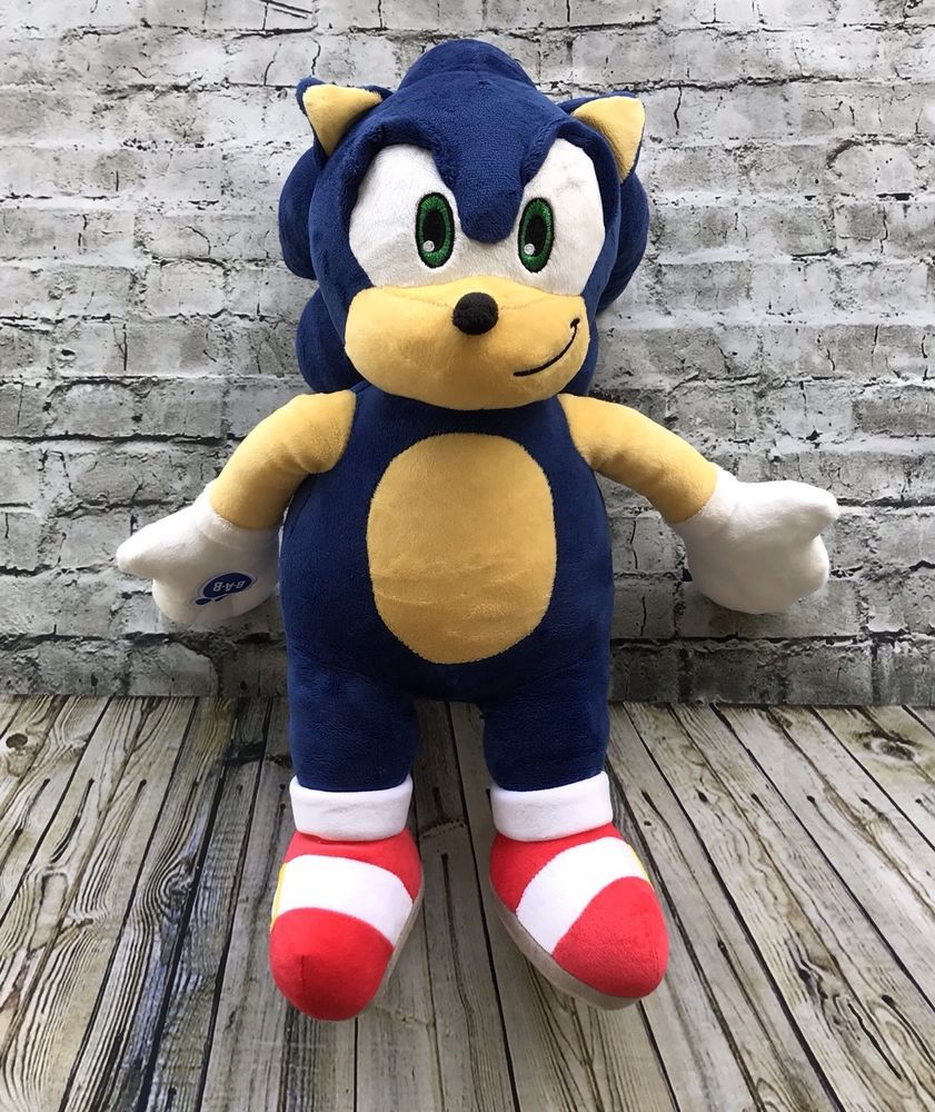 Build A Bear Workshop Sonic The Hedgehog Plush Stuffed Animal Retired 17 Inches Ebay Plush Stuffed Animals Build A Bear Animals