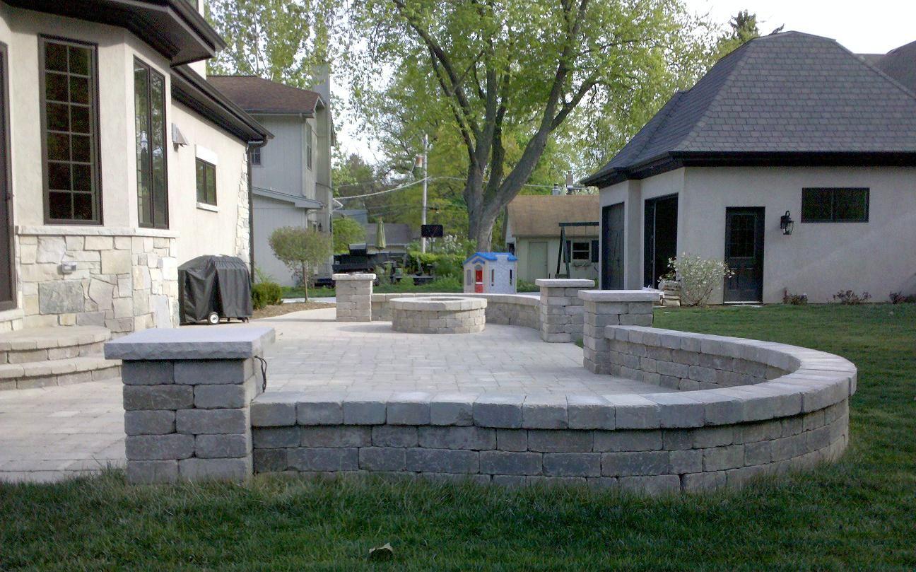 patio ideas unilock paver patio unilock brussels block patio