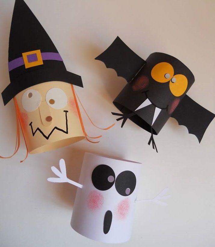 C mo decorar en halloween utilizando rollos de papel y - Decorar calabaza halloween ninos ...