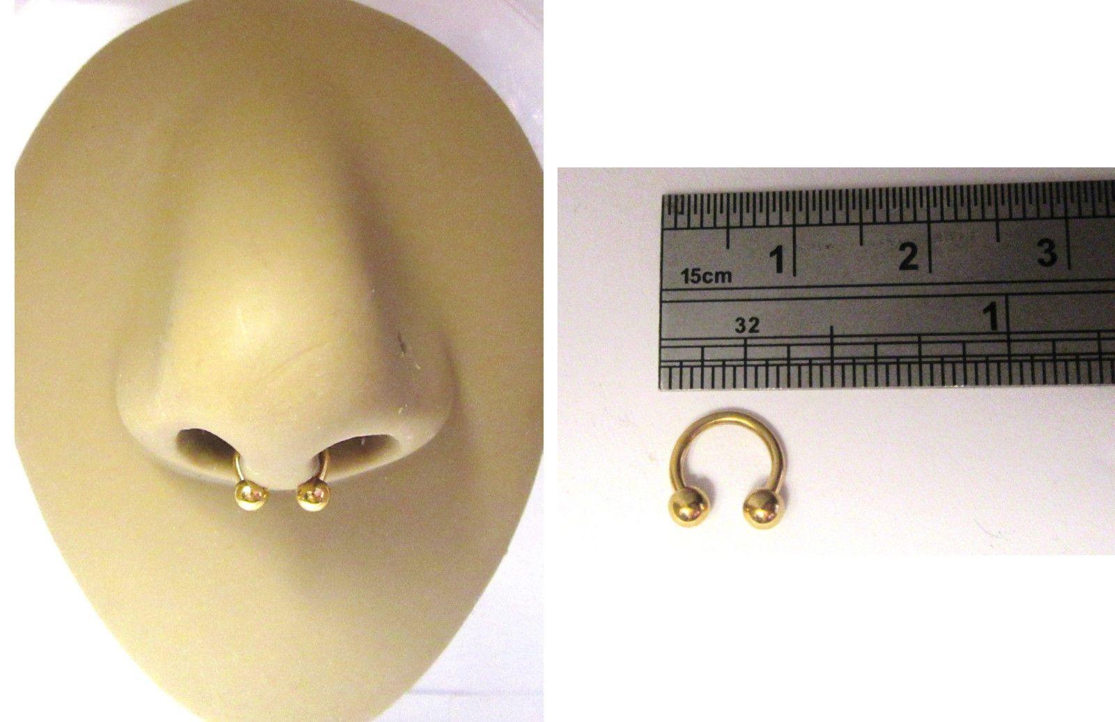 Surgical Steel Curved Barbell Half Hoop Horseshoe Ring 14 gauge 14g 10mm