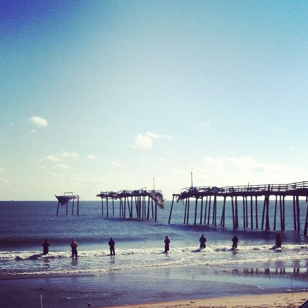 Surf fishing at frisco pier cape hatteras nc outer banks for Outer banks surf fishing