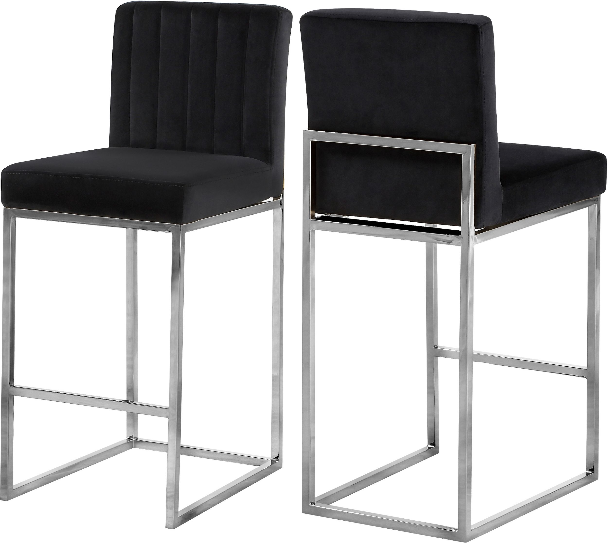 Wondrous Meridian Giselle Black Velvet Stool Reviews Goedekers Caraccident5 Cool Chair Designs And Ideas Caraccident5Info