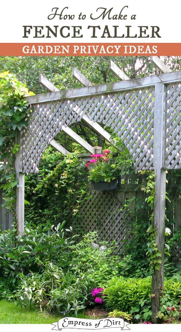How to Make a Fence Taller Gardens Garden privacy