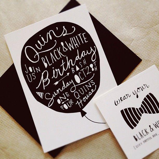 Black and white birthday bash party ideas pinterest invitation kelli murray on instagram invitation design is my fave comin atcha quinaltp stopboris Choice Image