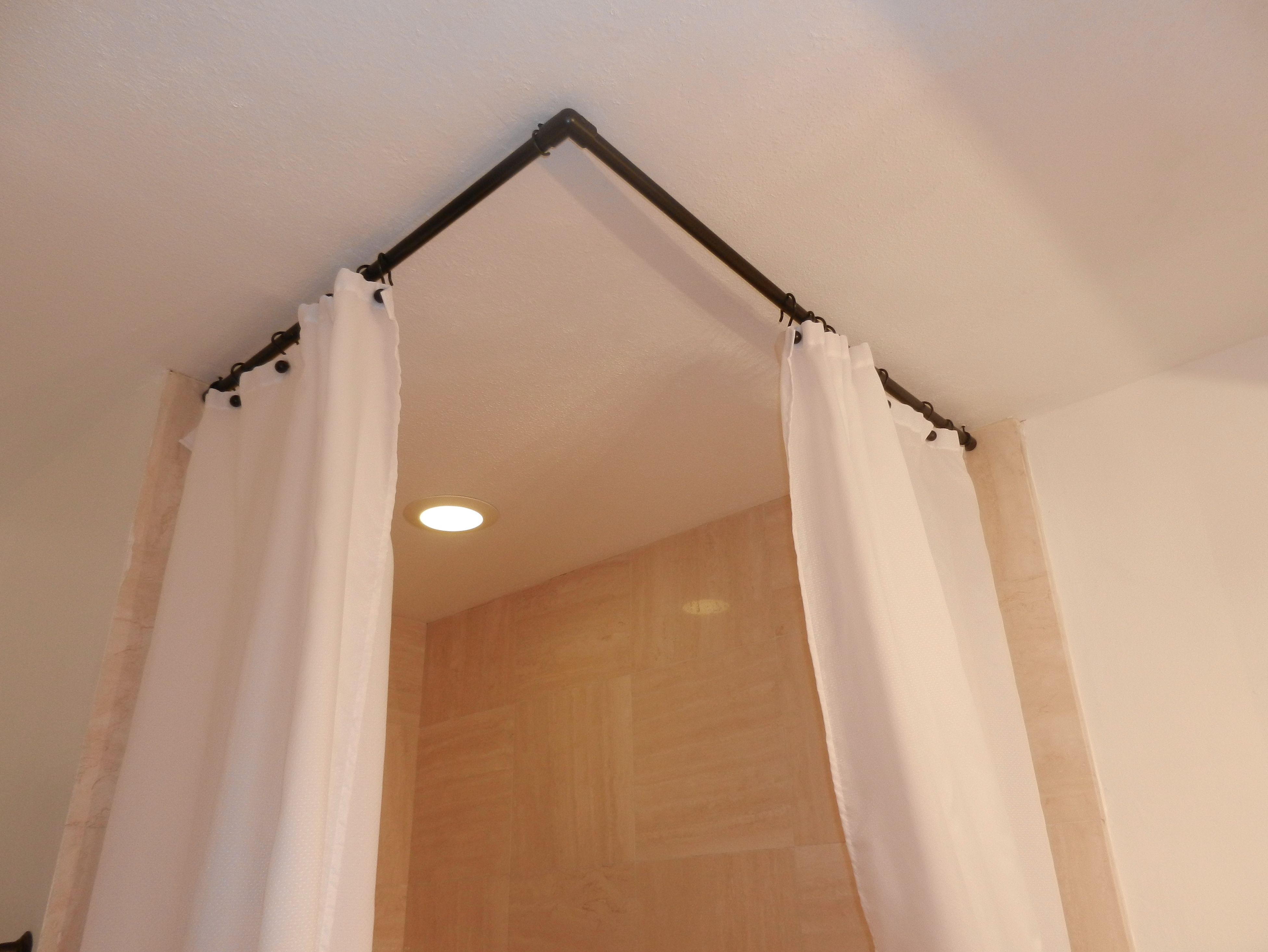 Bowed Shower Curtain Rod.90 Degree Curved Shower Curtain Rod In 2019 Corner Shower
