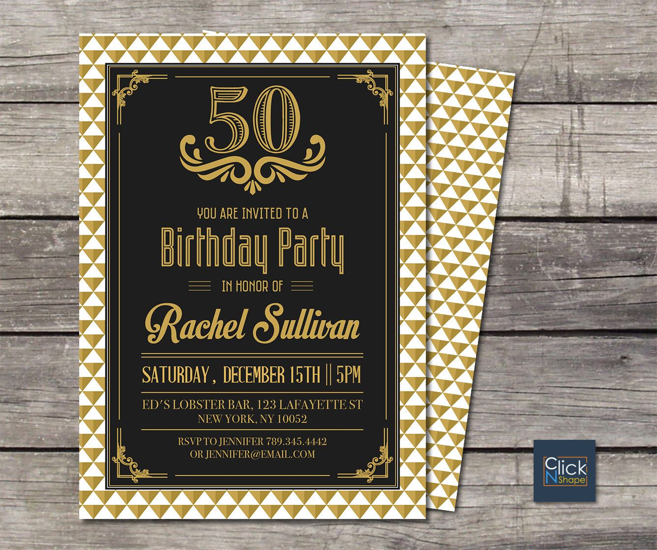 40th 50th 60th 70th Birthday Invitation Adult