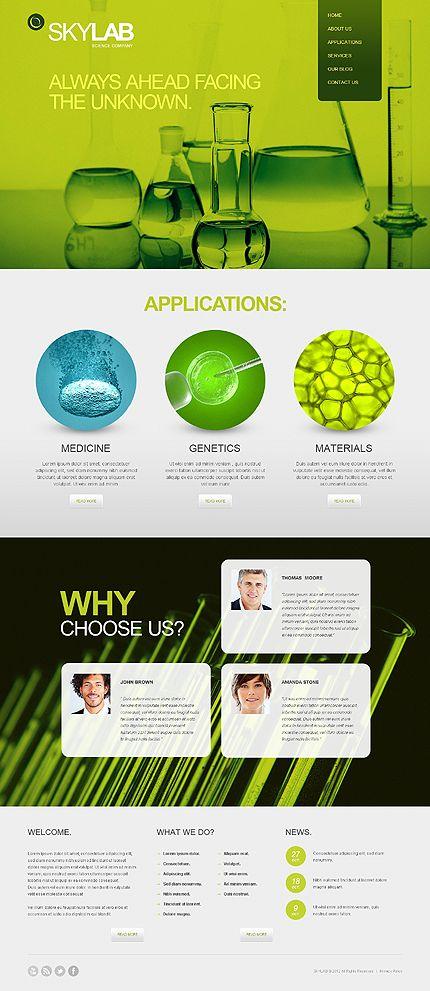 science lab joomla template fruitster pinterest web design