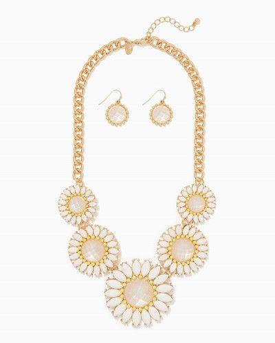 Full Bloom Statement Necklace Set | Charming Charlie