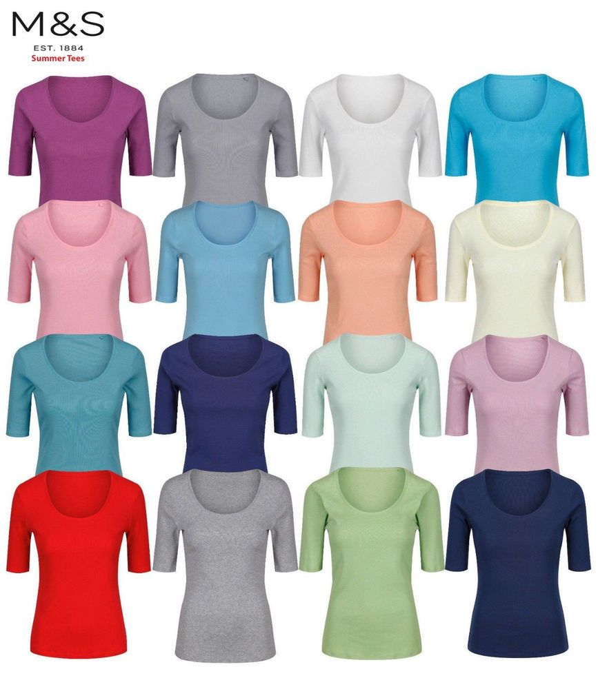 M/&S Womens ladies Jersey Cotton Short Length Nightdress Sizes 8-24