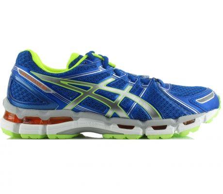 Asics Running Shoes Men Gel Kayano 19 Blue White Neon Yellow