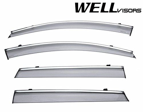 Wellvisors Side Window Wind Deflector Visors Kia Sorento 16up 2016 2017 With Chrome Trim For More Informa With Images Exterior Accessories Automotive Solutions Chrome