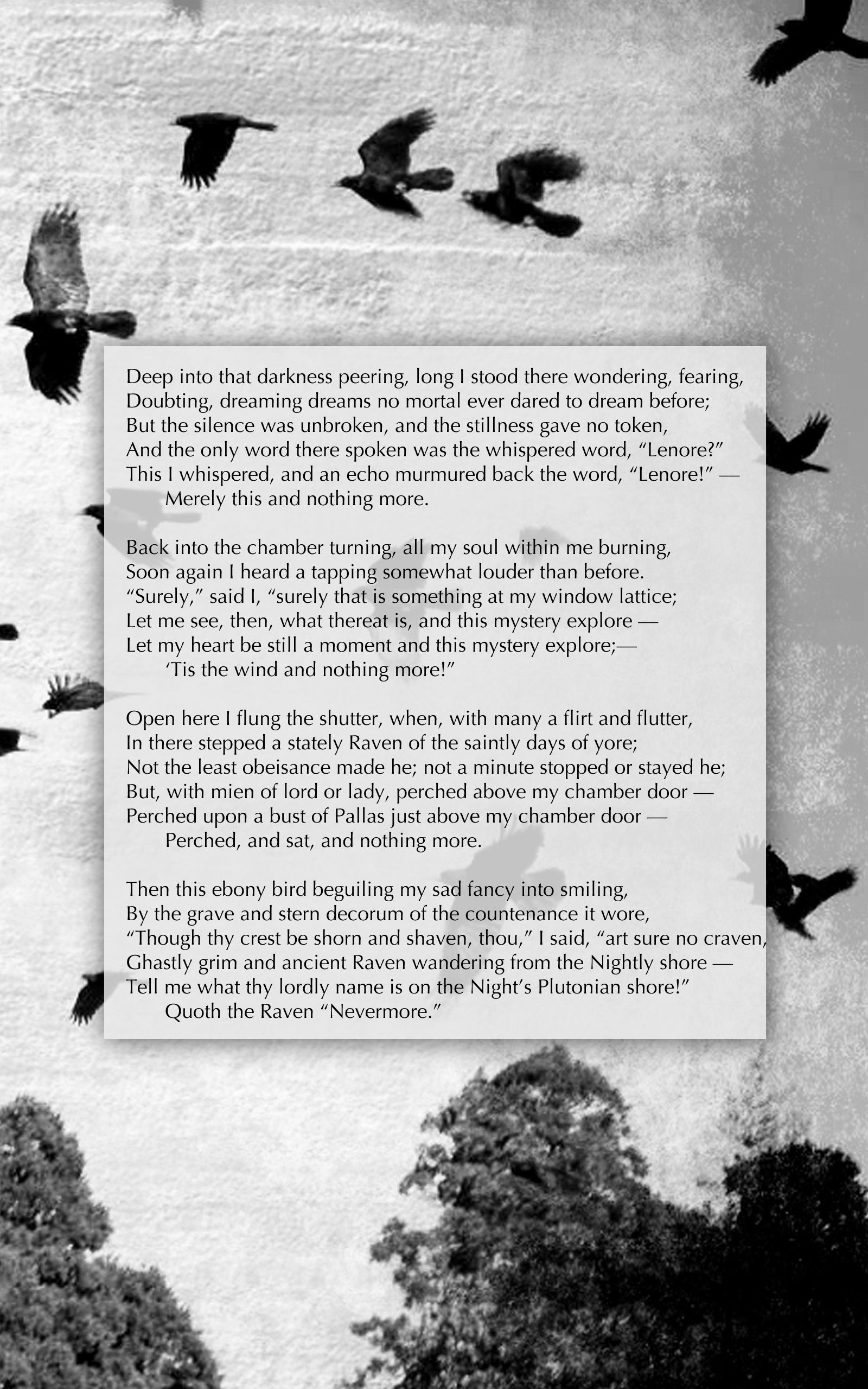 I Pinned Thi Because It Ha Part 1 Of The Poem Furthermore Picture Show Freedom A Raven And H Edgar Allan Poe Allen Quote Quotes Poetry By