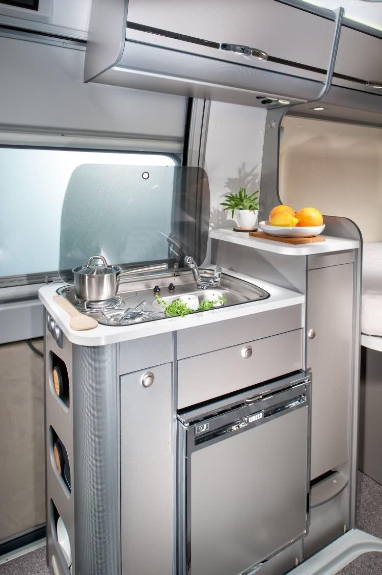 Compact Camper Van Kitchen With Images Camper Van Kitchen