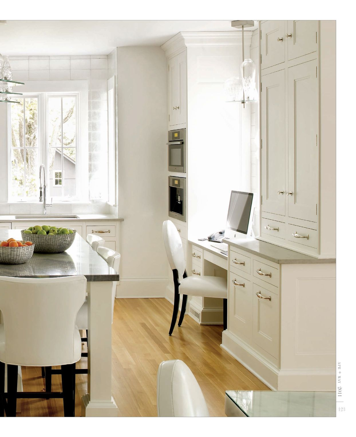 Kitchen Desk Nook (I Like That It's In Front Of A Large