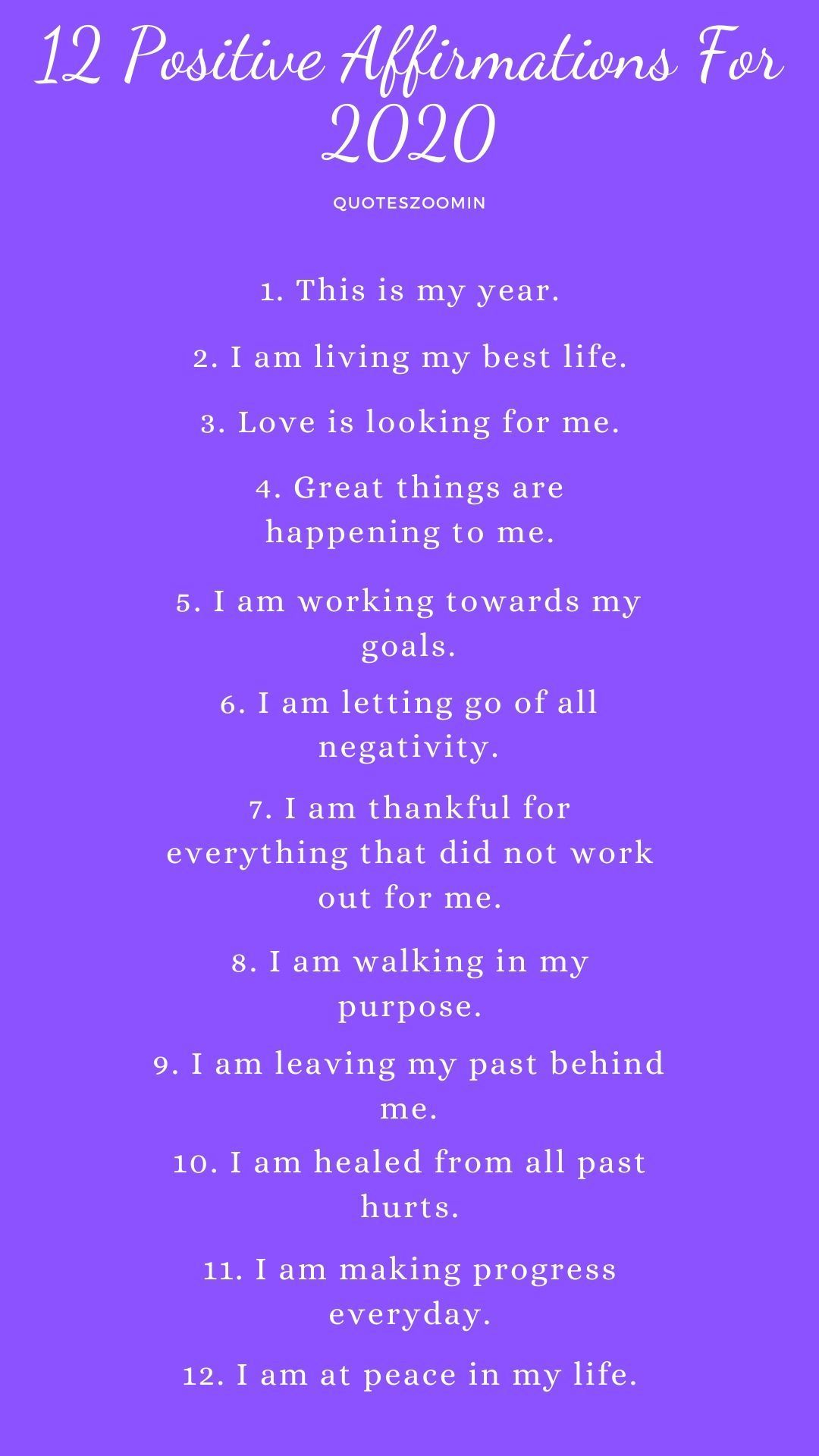 12 positive affirmations for the new year 2020 2020goals