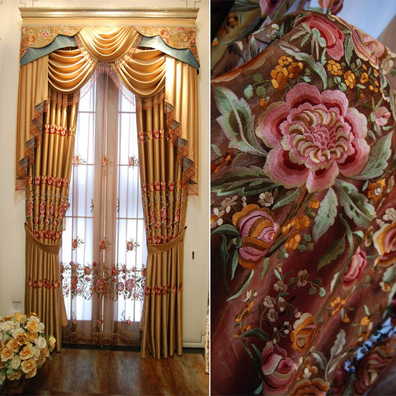 Home curtain design Quality curtain shade cloth full finished ...