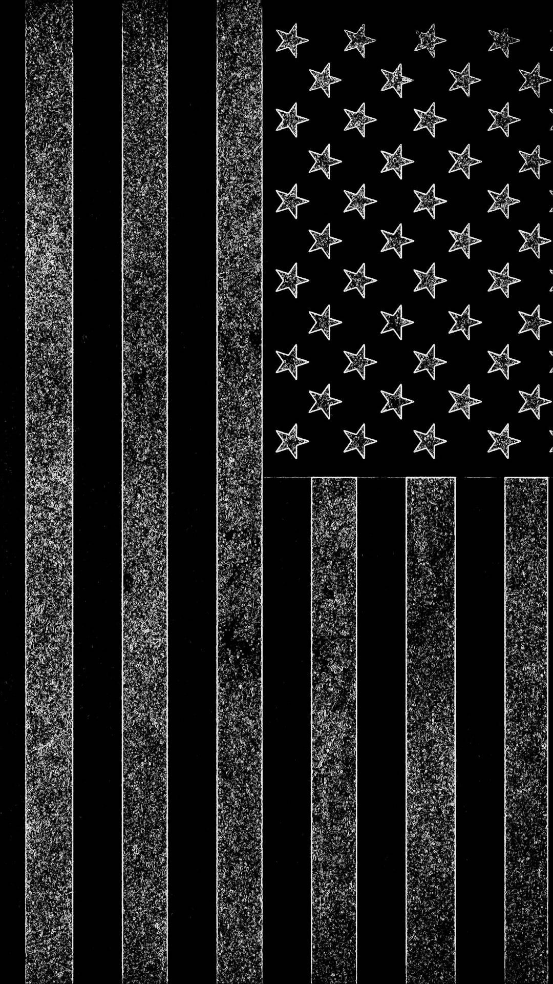 Dark American Flag iPhone Wallpaper (With images