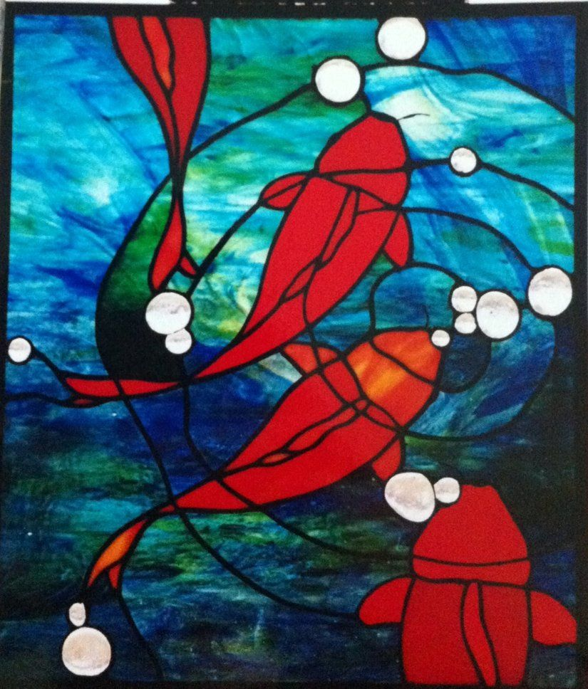 Koi stained glass pattern | Crafty Things | Pinterest | Fish ...
