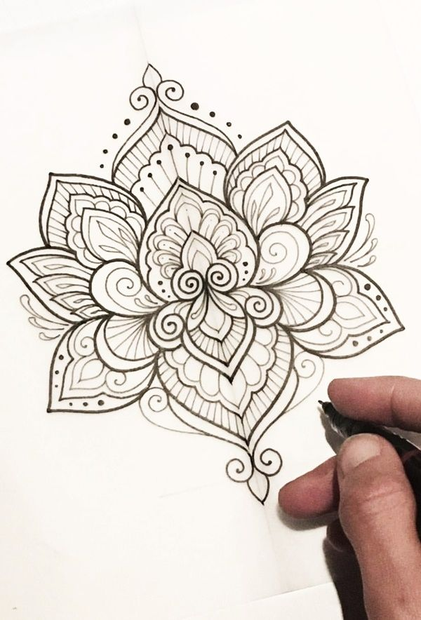 40 Simple Mandala Art Pattern And Designs is part of Lotus mandala tattoo, Tattoos, Mandala tattoo, Mandala tattoo design, Simple mandala, Mandala rose - If you too are a fan of mandala designs, then creating Simple Mandala Art Pattern and Designs as per the ideas are given below would be the best bet