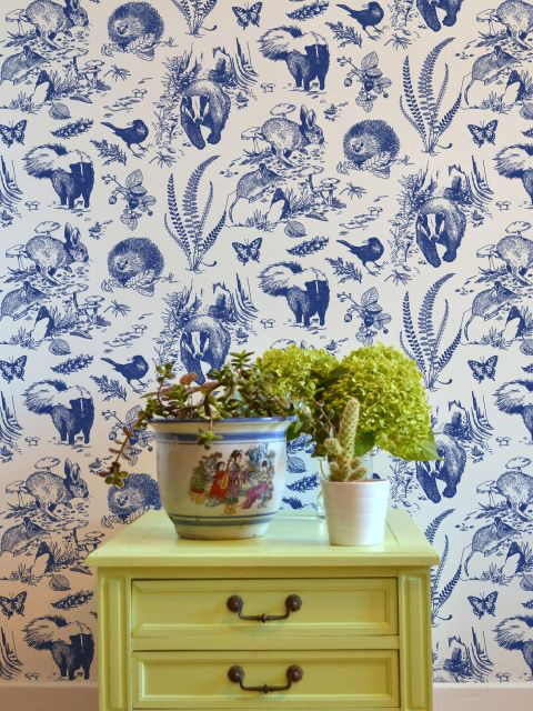 Buy bespoke hand printed wallpaper online collection of unique designs inspired by northern american fauna and flora