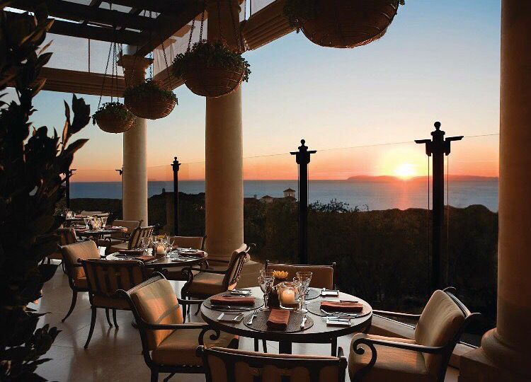 Pelican Hill Resort Newport Beach Ca Grill Restaurant Views