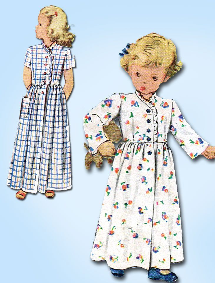 1940s Vintage McCall Sewing Pattern 6708 Charming Toddler Girls ...