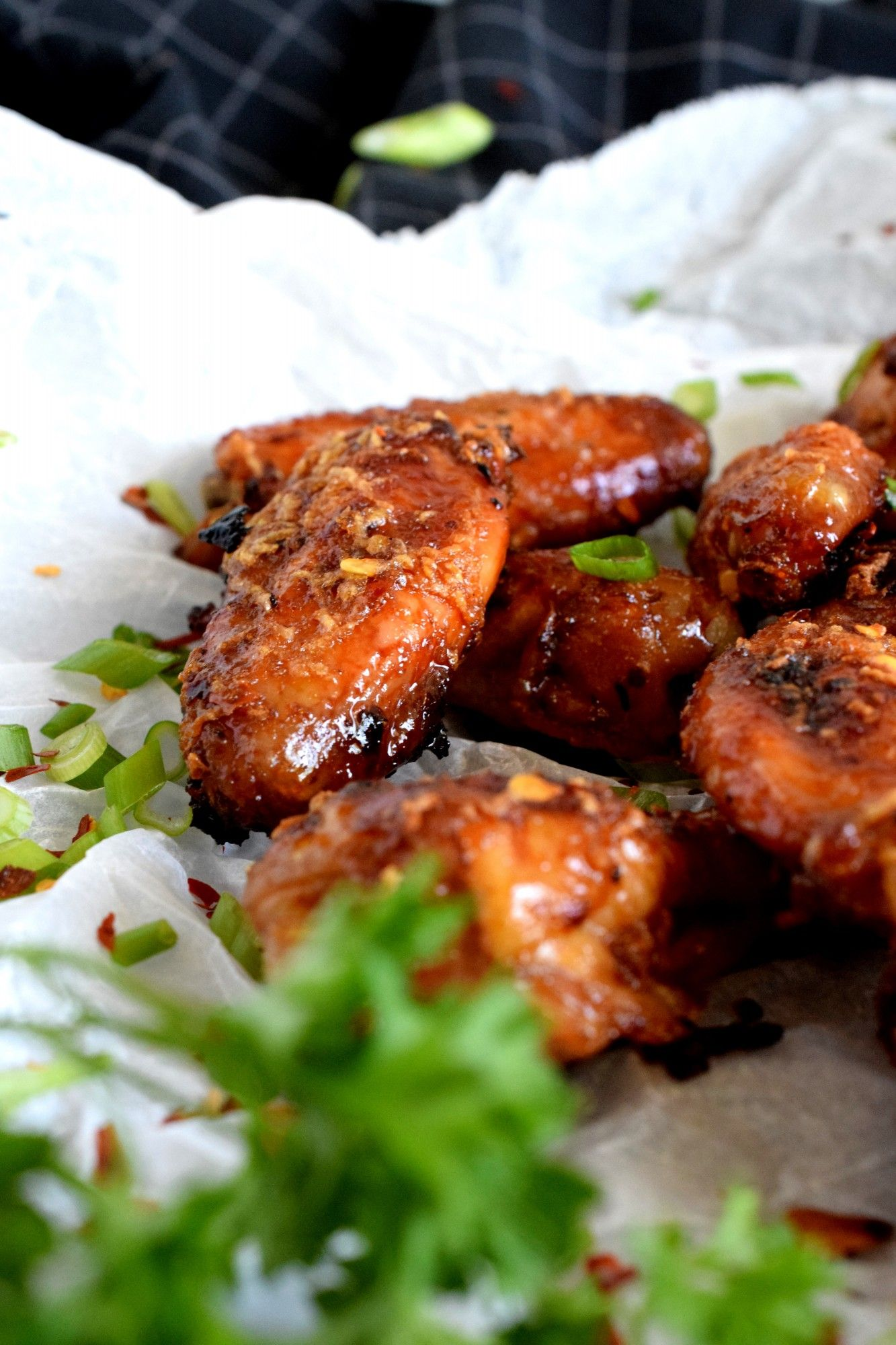 Chili ginger garlic honey wings lord byrons kitchen