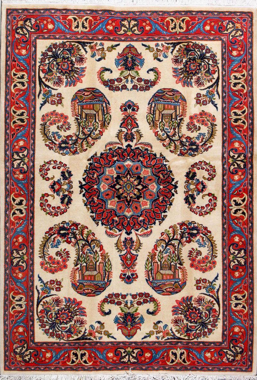 Sarough Persian Rug Handmade 4 8 X 6 10