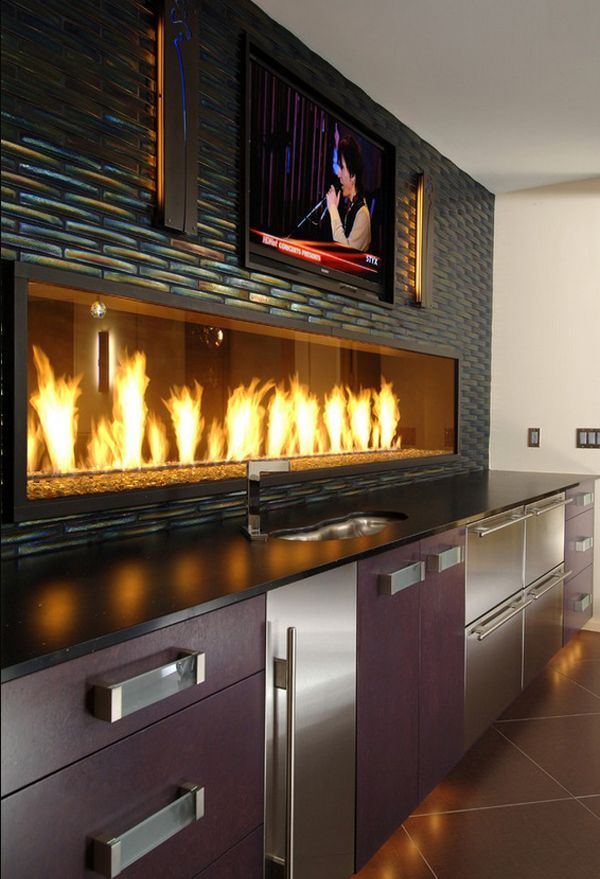 Restaurant Kitchen Wall Finishes restaurant design | iridescent tile, televisions and tvs