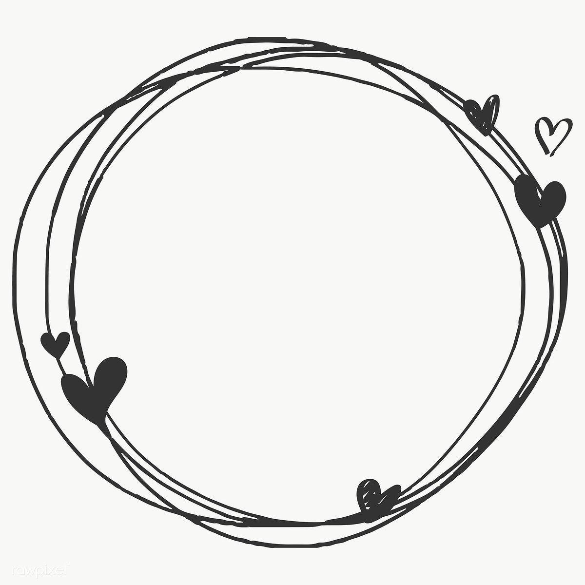 Doodle Heart Frame Transparent Png Free Image By Rawpixel Com Sasi Heart Frame Doodle Frames Floral Logo Design