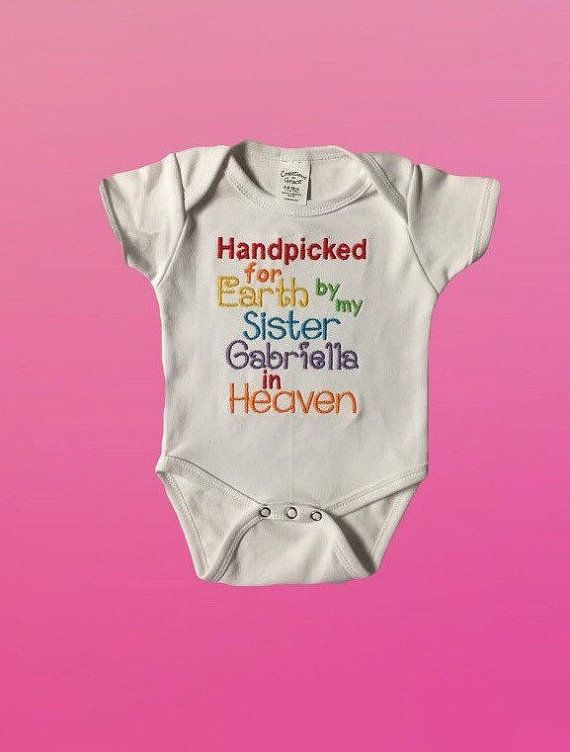b8f6a6ef342b Handpicked for Earth Onesie, hand picked for earth, rainbow baby onesie,  Heaven Onesie