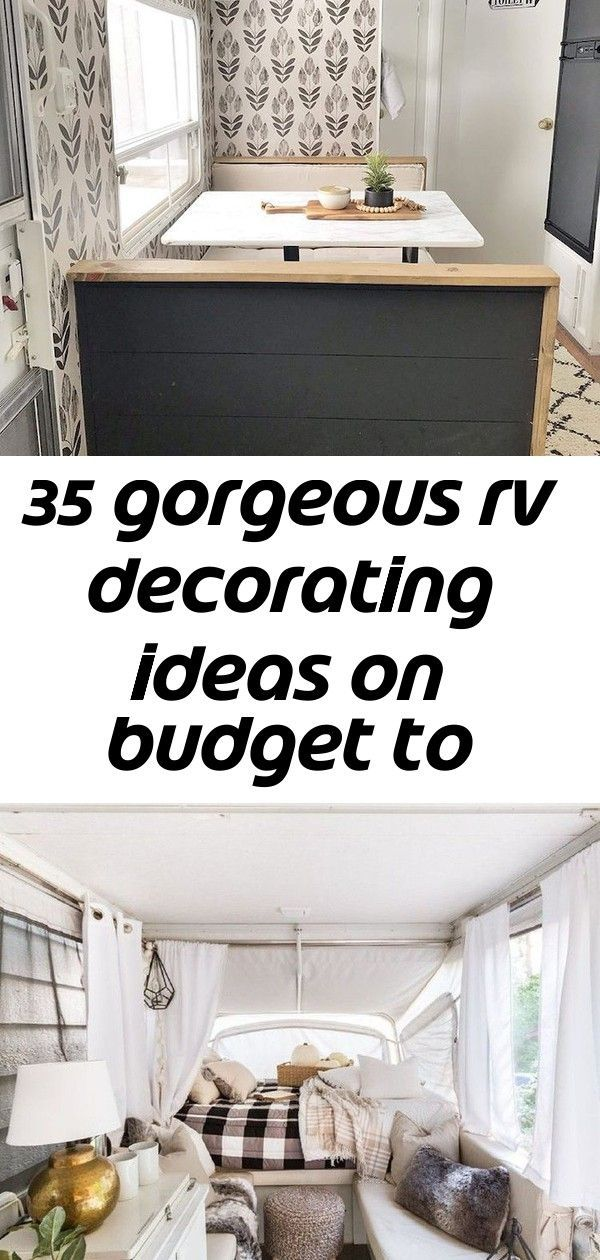 35 Gorgeous RV Decorating Ideas On Budget to Make a Happy Campers  44 Brilliant Diy Travel Trailers