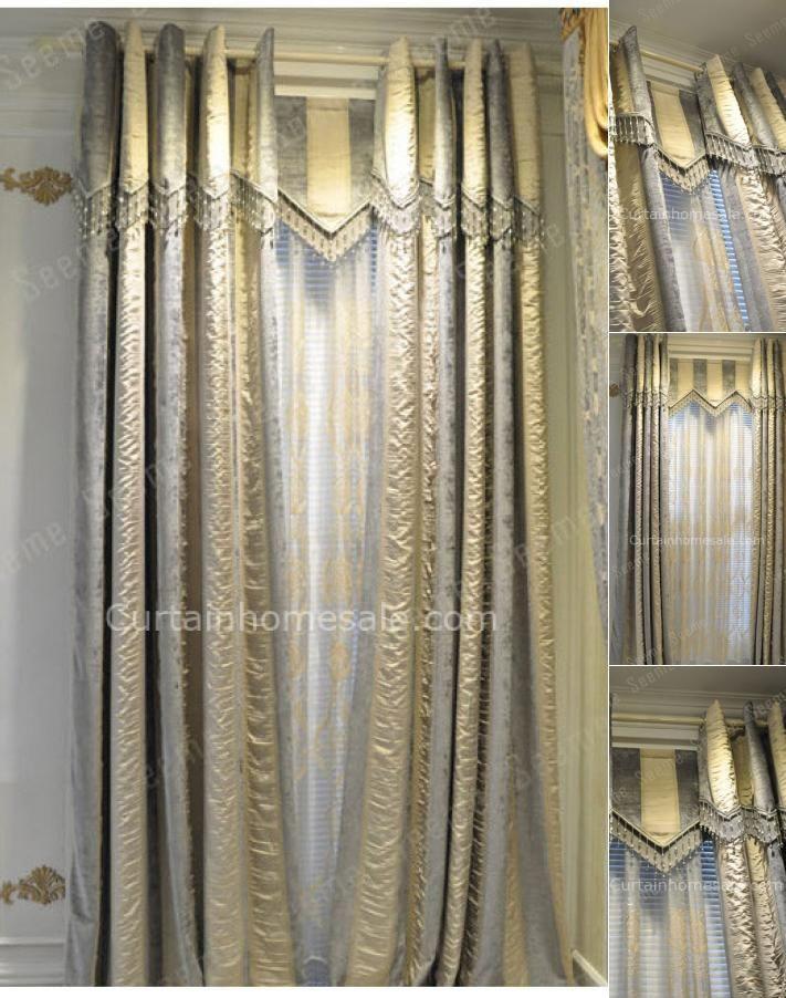Japanese Gold Gray Room Darkening Primitive Curtain Wholesale No
