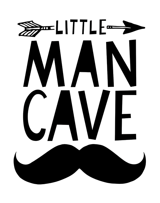 Boys Wall Art Little Man Cave Nursery Print By Mini Learners Man Cave Posters Boy Wall Art Man Cave Room