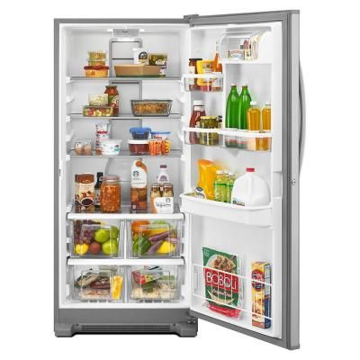 Whirlpool 31 In W 17 7 Cu Ft Freezerless Refrigerator In Monochromatic Stainless Steel Wrf57r18dm Freezerless Refrigerator Refrigerator All Refrigerator