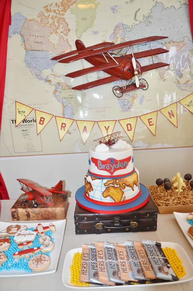 Vintage Airplane Birthday Party Ideas Airplanes Decoration and