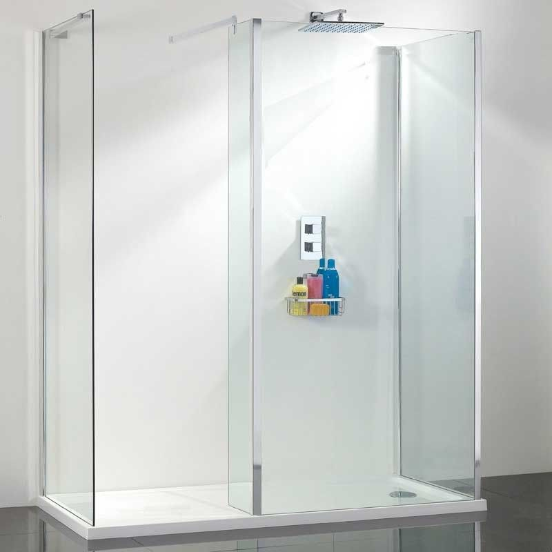 one wall walk in shower enclosure bathroom pinterest more shower enclosure and walls ideas