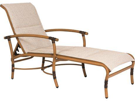 Woodard Glade Isle Padded Sling Aluminum Adjustable Chaise Lounge