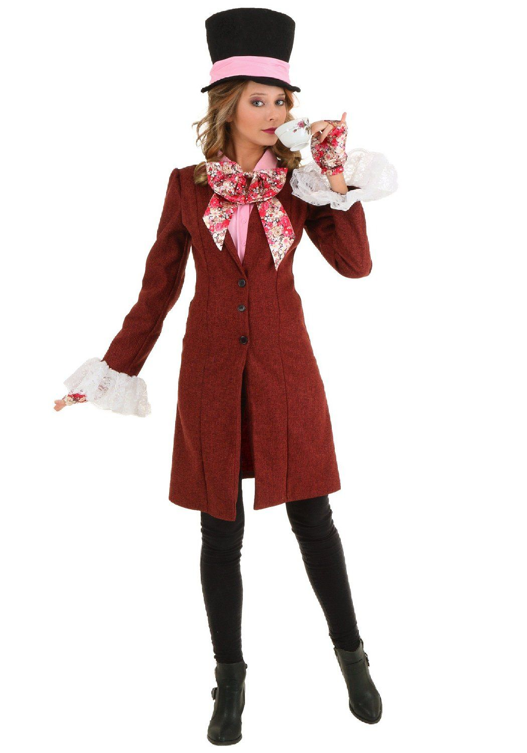 Captivating Fun Costumes Womens Deluxe Womenu0027s Mad Hatter Costume Small