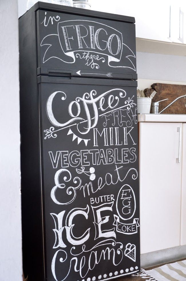 the marthy 39 s vintage garden diy frigo lavagna chalkboard art pinterest vintage. Black Bedroom Furniture Sets. Home Design Ideas