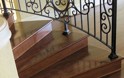 Charming Mesquite Hardwood Stair Treads