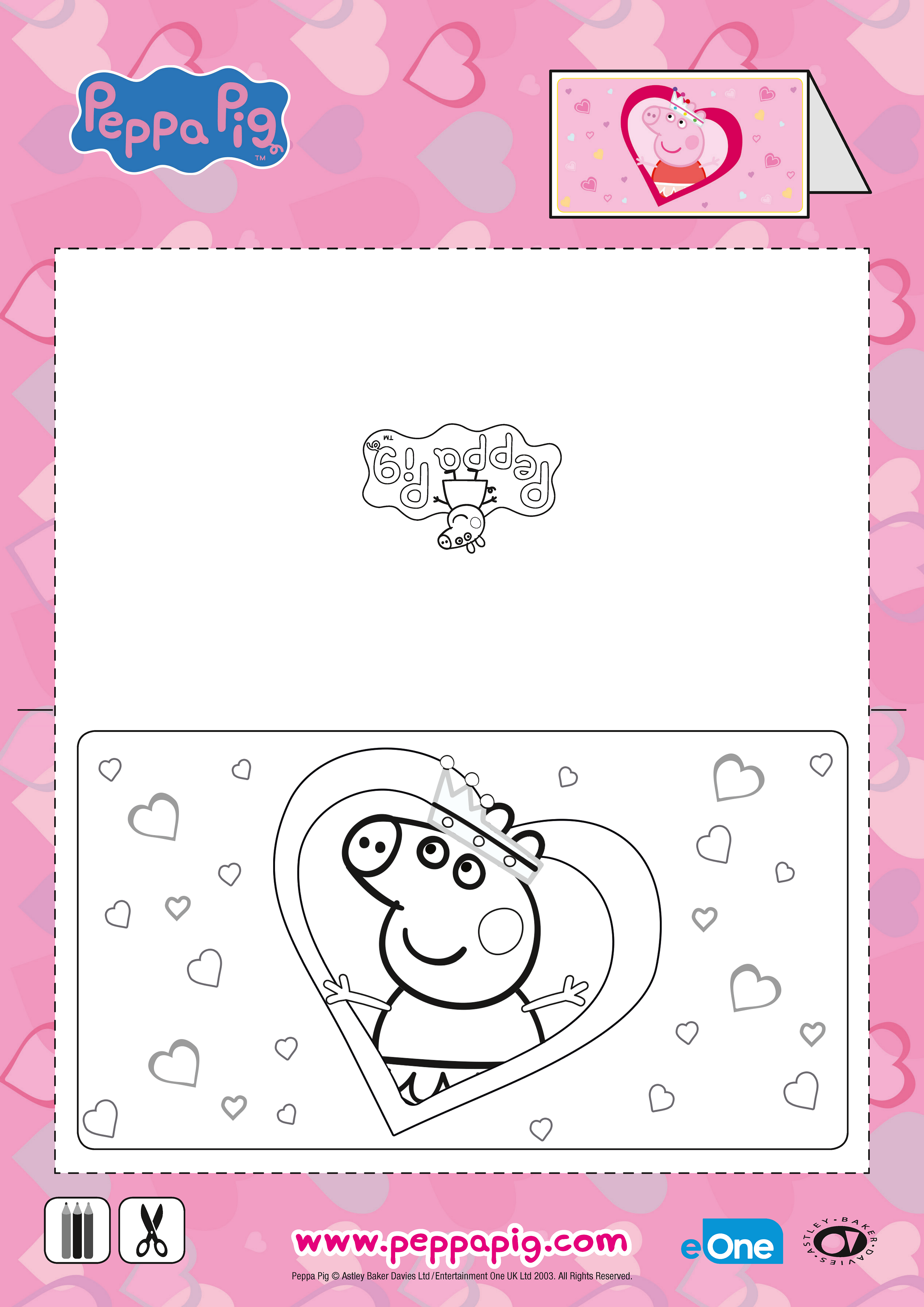 Your Little One Will Love This Oinktastic Peppa Pig Valentine S Day Card Valentines Day Coloring Page Valentine Coloring Pages Peppa Pig