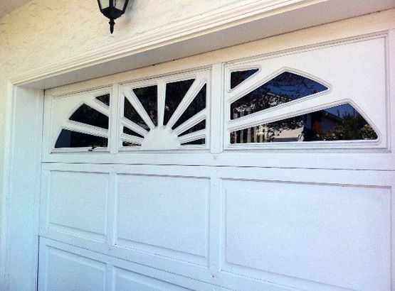white garage door window inserts