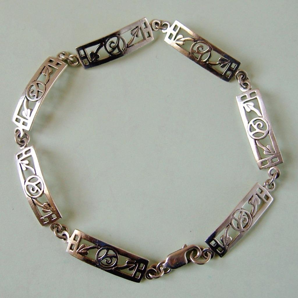 Sterling Silver Rennie Mackintosh Style Bracelet