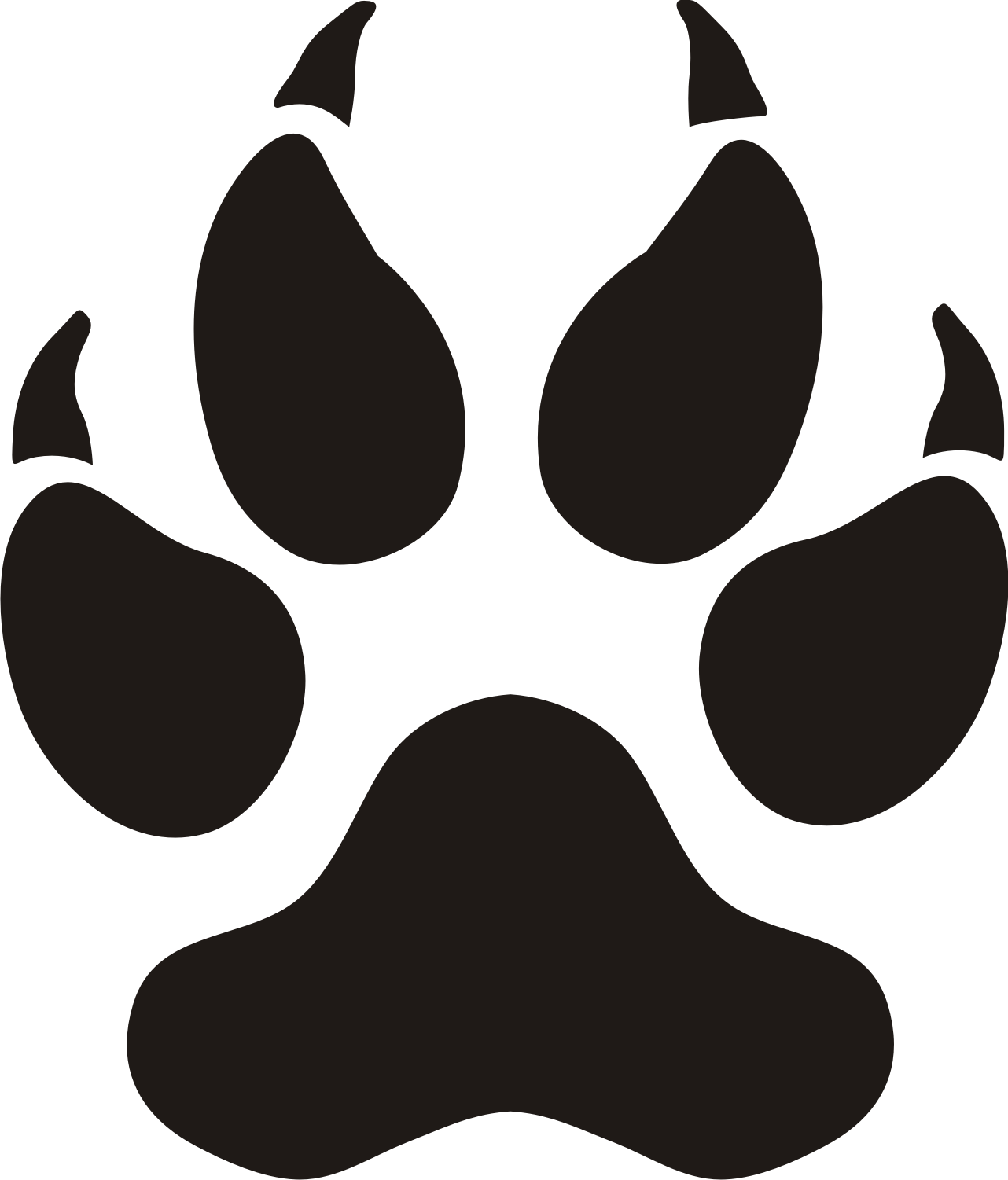 dog paw print clip art free download free 3 image 19250 clip art rh pinterest com Black Panther Cartoon free black panther clipart