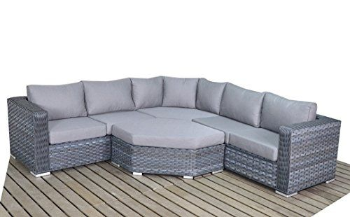 West Country Rattan Garden Greyangle Corner Sofa Consists Of Two Modular Two Seater Sofas Angle Corner Sofa And A Coffee Table Outdoor G Pletenaya Mebel Mebel