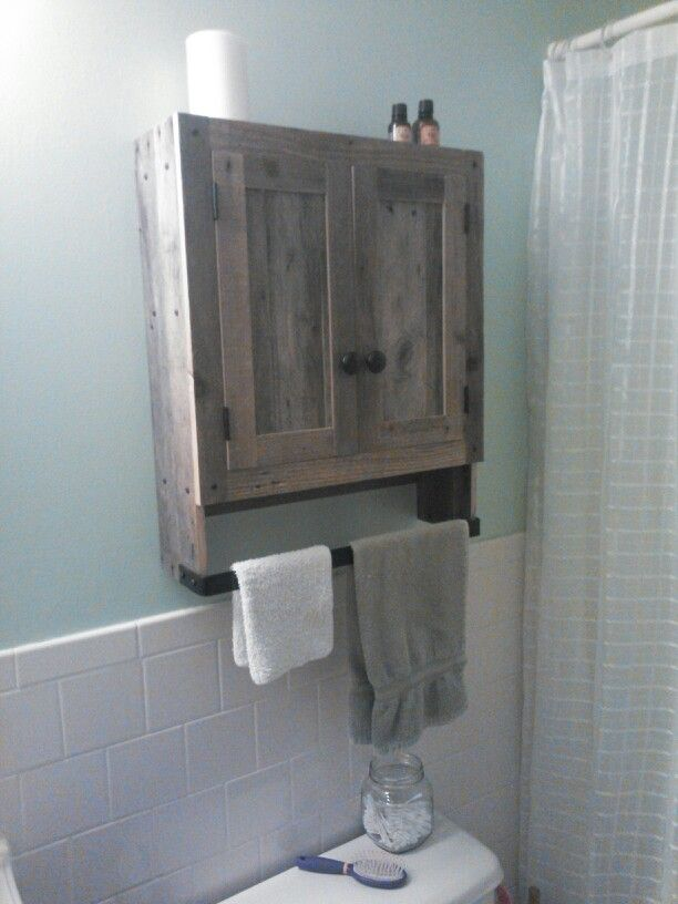 Reclaimed Pallet Wood Bathroom Wall Cabinet A Genuine Cole Young