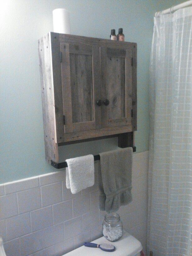 Reclaimed Pallet Wood Bathroom Wall Cabinet Bathroom Wall