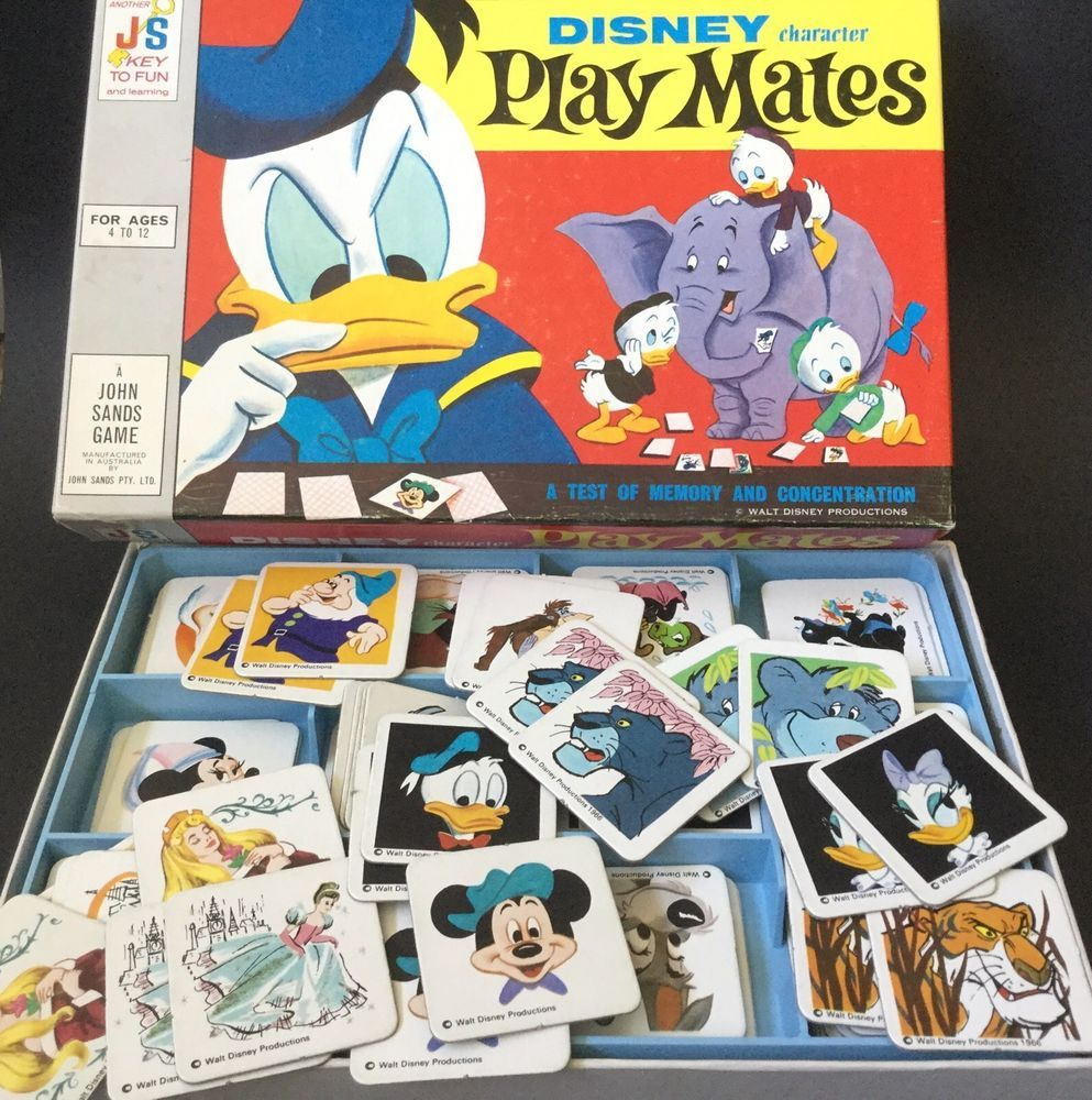 Uncategorized Disney Memory Game vintage disney character play mates memory concentration game complete rare